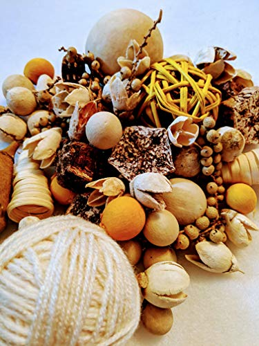 Table Rattan Painted (The Painted Cupboard Potpourri Mix Including Rustic Yarn Ball, Rattan Ball, Natural Pods, and Seeds- Lightly Vanilla Scented)