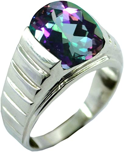 BRIGHT COLOURED SILICONE ADJUSTABLE RING WITH GEMSTONE 5 COLOURS