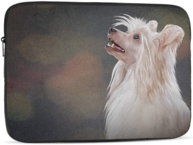 Designed to Fit Any Laptop//Notebook//ultrabook//MacBook with Display Size 11.6 Inches Drawing Chinese Crested Dog Portrait Pattern Neoprene Sleeve Pouch Case Bag for 11.6 Inch Laptop Computer