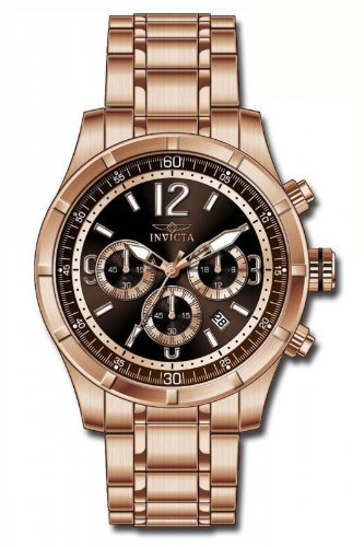 Invicta Specialty Classic Chronograph Brown Dial Rose Gold-tone Mens Watch 11378