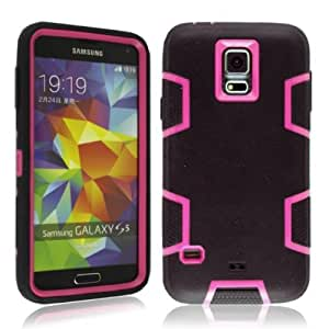 MOKOU Hybrid Silicone Protector Case Cover For Samsung Galaxy S5 i9600