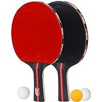 CoWalkers Juego de Palas de Ping Pong - Incluye 2 paletas/Raquetas de Alto Rendimiento, 3 Bolas profesionale