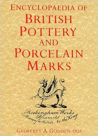 Encyclopedia Of British Pottery And Porcelain Marks Amazon