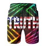 Beach Shorts Mens Usa National Flag Truth Funny Special Summer Quick-drying Swim Trunks Cargo Shorts