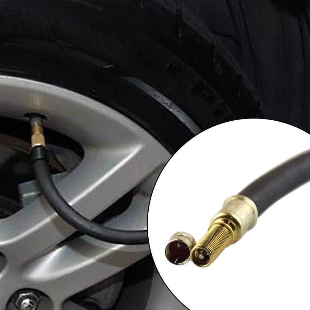 Fangfeen 140mm Car Auto Van Bus Double Roue des pneus en Caoutchouc Souple Tige de soupape dextension Extender Adaptateur