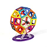 LXWM 102PCS Magnetic Blocks Educational Construction Models Building Toy ABS Magnet Designer Kid Birthday Gift