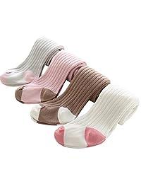 Comfysail 4 Pack 0-6T Girls Tights Legging Thermal Warm Cotton Stocking Panties