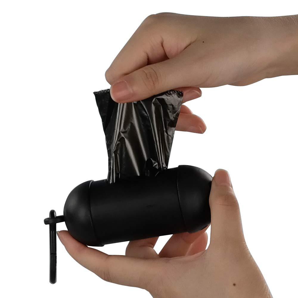 Nero e Grigio Joycky 60 Rotoli Sacchetti di Cacca per Cane con 2 Dispensers