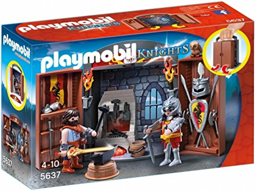 (Playmobil Knights' Armory Play Box)