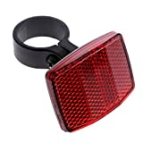 Usdepant Bicycle Handlebar Reflector,Front Rear Warning Safety Light,2 Pcs/ Set (red)