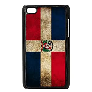 iPod Touch 4 Case Black Dominican Republic Flag S0383873