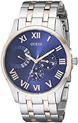 GUESS Men's U0607G2 Stainless Steel & Rose Gold-Tone Multi-Function Watch