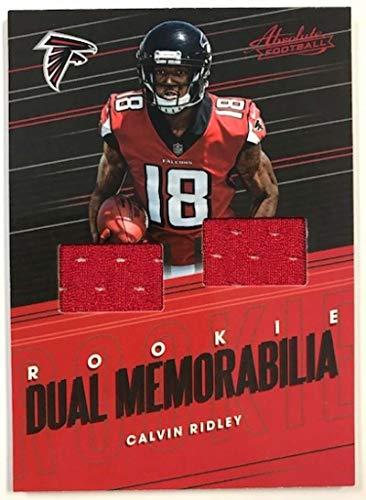 2018 Absolute Football Rookie Dual Memorabilia #10 Calvin Ridley MEM Atlanta Falcons Official NFL Trading Card made by Panini from Absolute Football