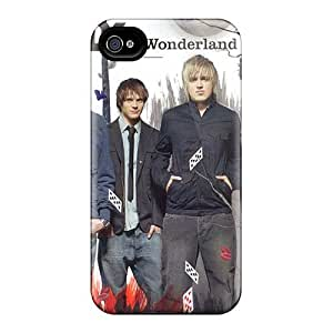 Shock Absorbent Hard Phone Cases For Iphone 4/4s With Custom Vivid Mcfly Band Series AlissaDubois