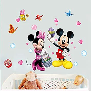 Kibi Wandtattoo Mickey Mouse Wandtattoo Mickey und Minnie ...