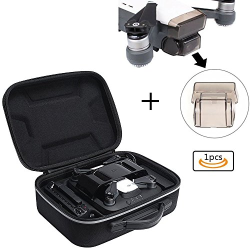 Zaracle Carry Case For DJI Spark Charging Station,Portable Protective Storage Case Bag with Extra Lens Guard Camera Gimbal Cover Lens for DJI Spark Drone