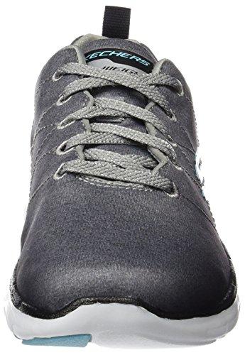 2 Oscuro Exterior Mujer para Zapatillas Flex Deporte 0 Gris Skechers Appeal de qgWTqE7