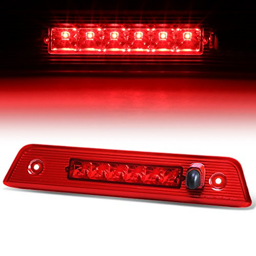For Jeep Liberty KK Rear Hight Mount LED 3rd Third Tail Brake Light (Red Lens)