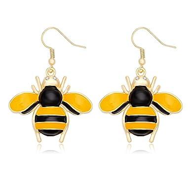 Amazon noumanda gold insect honey bee necklace crystal noumanda gold insect honey bee necklace crystal bumblebee pendant for women girls earrings aloadofball Gallery