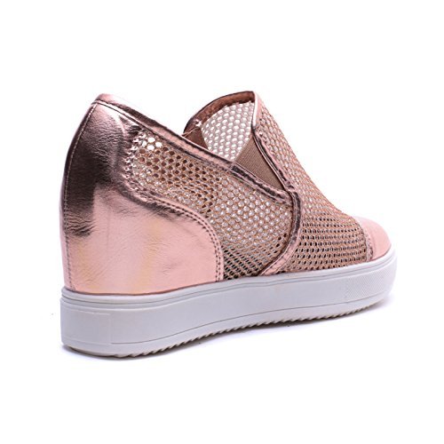 Slippers Zeppa Giallo Pelle Scarpe Traforate Sneakers Mforshop On Donna 8601 Slip Eco Interna nIHOx7fYq