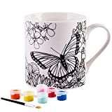 Paint Your Own Mug- White 8 Oz Porcelain Mug (Butterfly)