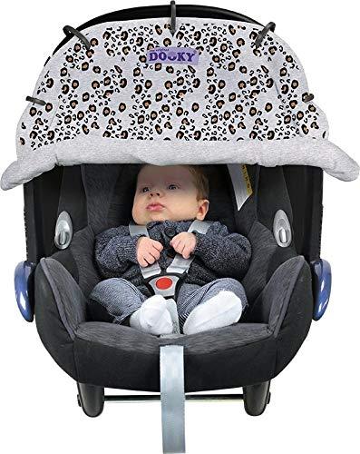 Black Original DOOKY ** Style UV 40 ** Universal Sonnenschutz//Sonnensegel//Sonnenblende f/ür Kinderwagen und Babyschale