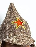 Budyonovka red star - sauna hat Budenovka russian