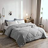 Melody House Down Alternative Comforter Duvet Insert Medium Weight for All Season Warm Super Soft Hypoallergenic, Grey, Twin