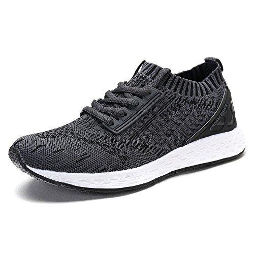 Dream Pairs Mens 170426_m Moda Scarpe Da Ginnastica Sneakers Bianco Lt.grey