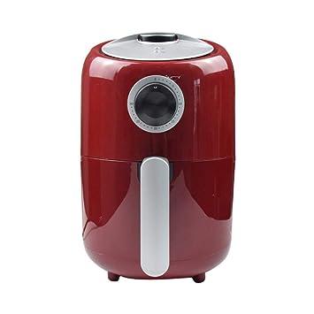 Xyanzi dianzhuguo Mini freidora de Aire con Control de Temperatura y Temporizador Ajustables, Rojo 1000W