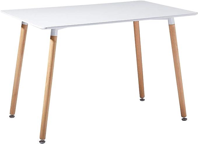 KOSMI tavolo rotondo Tavolo rotondo bianco scandinavo 6 persone diametro 120 cm