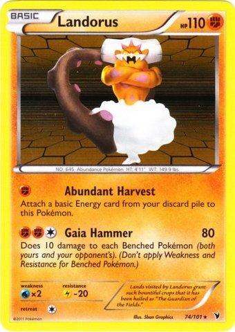 Pokemon - Landorus (74) - BW - Noble Victories - Holo