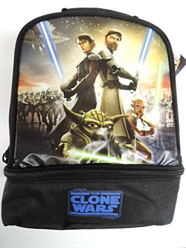 - Star Wars Clone Wars Insulated Dual Compartment Lunchbox Lunch Bag