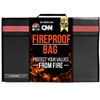The Good Stuff Fireproof Waterproof Document Storage Bags (2000℉), Protect Important Documents from House Fires…