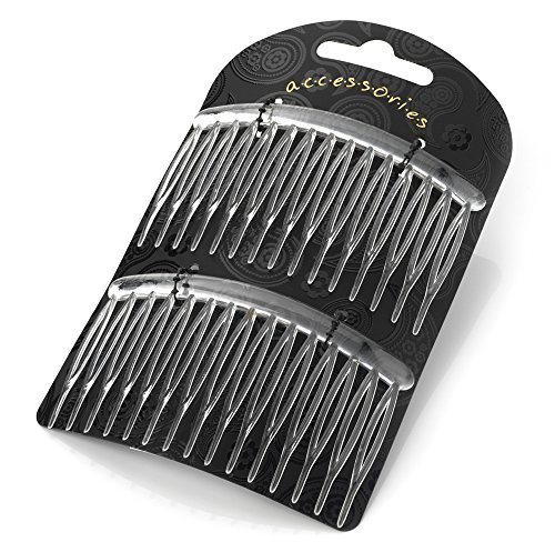 2 Clear Small Plastic Hair Combs AJ28507 by I Heart Fashi...