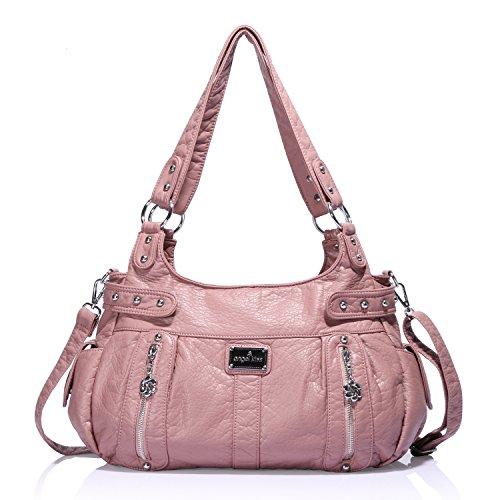 Pink Leather Handbags - 3