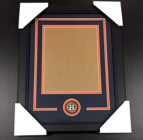 HOUSTON ASTROS Medallion Frame Kit 8x10 Photo Double Mat Vertical