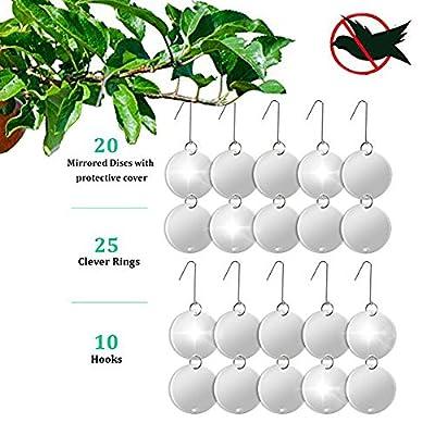 Bird Repellent Discs Bird Reflector ,VENSMILE 20 Reflective Discs Keep All Birds Away from Your Property ,Bird Discs