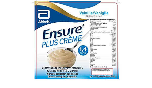 Amazon.com: Abbott Ensure Plus Creme Vanilla 4x125g: Health & Personal Care