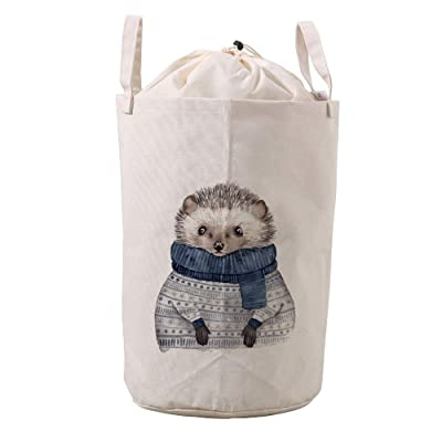 LifeCustomize Large Laundry Basket Hamper Cute Animal Hedgehog Collapsible Drawstring Clothing Storage Baskets Nursery Baby Toy Organizer : Baby