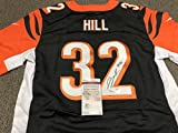 : Jeremy Hill Signed Autographed Cincinnati Bengals Authentic Nike Jersey JSA WITNESSED JHILL Hologram & COA CARD