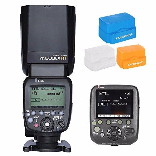 Yongnuo yn600ex-rt 2 4 GワイヤレスHSS 1 / 8000sマスターフラッシュスピードライト+ sn-e3-rts送信機forキャノンst-e3-rtとして yn-e3-rt + EACHSHOT Diffusersの商品画像