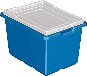 Charming LEGO Education Blue Storage Bins, Pack Of 6 Bins