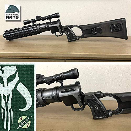 Custom Designed Boba Fett's EE-3 Carbine Blaster Rifle Prop With Torn Rags and Tally Marks (Safe Does Not Shoot) -