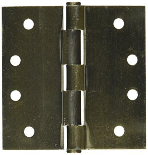 Schlage Brass Hinges - SCHLAGE Lock CO SC3P1020F-609E AB SQ Corn Hinge, 4-Inch, 3-Pack