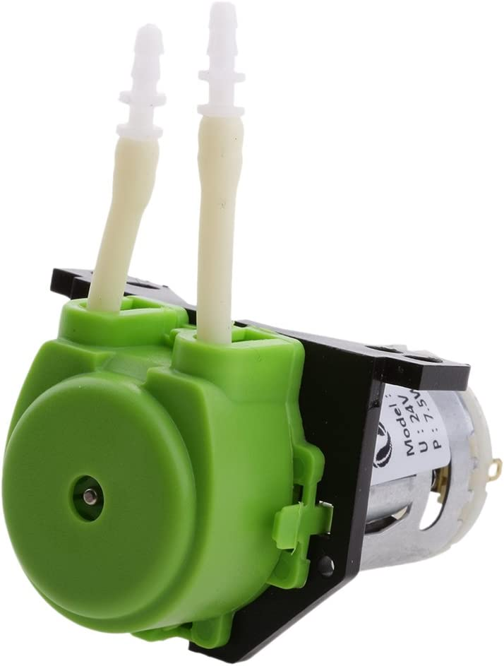 Sharplace 1 Pieza de Bomba Peristáltica Dosificadora de 24V On/Off para Bombear Fluidos Limpios Estérile - Verde