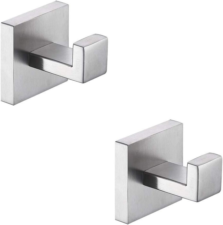 Details about  /Robe Hooks Stainless Steel Hook Scarf Towel Wall Bathroom DIY Hanger w Screws