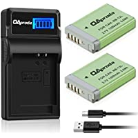 NB-13L OAproda Fully Decoded Battery ( 2 Pack) and Smart LCD Display USB Charger for canon NB-13L, Powershot G5 X, G7 X, G9 X, G7 X Mark II, G9X Mark II, SX620 HS, SX720 HS, SX730 HS Digital Camera
