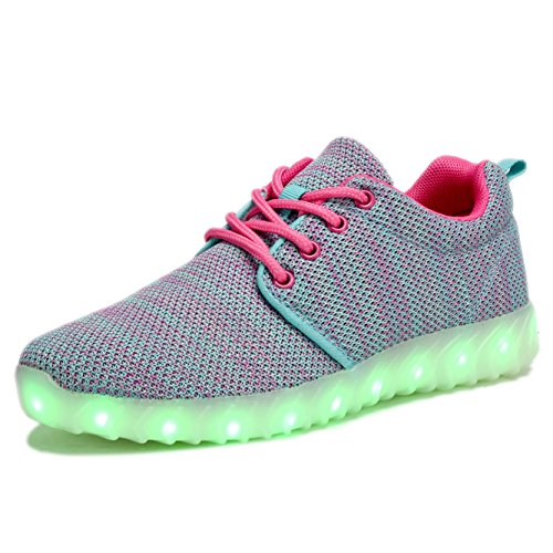 Coodo Kids Girls Girls Led Light Up Shoes Sneakers Lampeggianti (bambino / Figliata Bambini) 4-blu