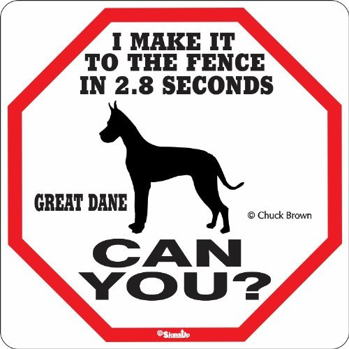 Wholesale Great Dane 2.8 Seconds Metal Sign / Plaque - 12x12 inch for cheap